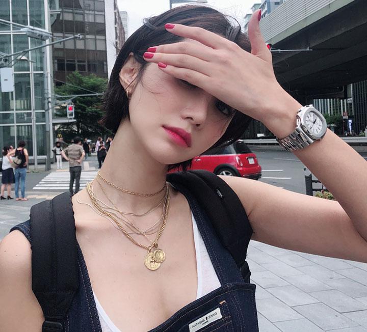 스타의 써머 원 포인트 네일