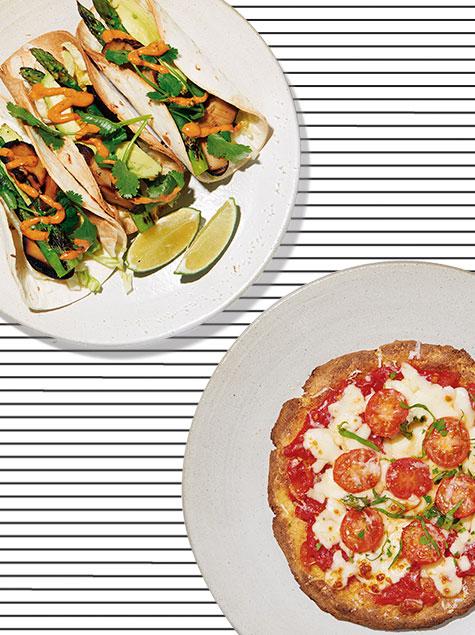 다이어터를 위한 피자와 타코?!