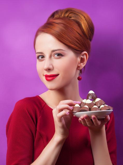 미녀는 초콜릿을 좋아해