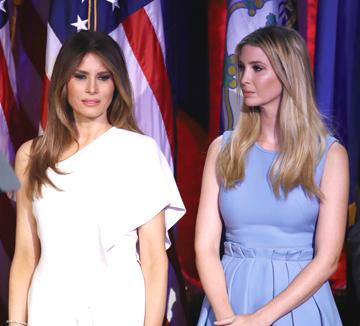 신세대 퍼스트 레이디, 멜라니 트럼프와 이반카 트럼프