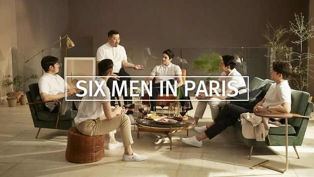 SIX MEN IN PARIS