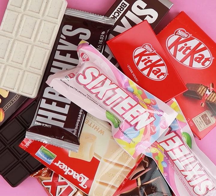 싱크로율 100%, 초콜릿을 닮은 화장품 4. ::발렌타인, 발렌타인데이, 초콜렛, 초콜릿, 메이크업, chocolate, makeup, valentine, valentinesday, 에뛰드, 에뛰드하우스, 식스틴브랜드, 16브랜드, 더페이스샵, 더페, 더샘, kbeauty, 킷캣, 에뛰드하우스x킷캣, 발렌타인선물추천