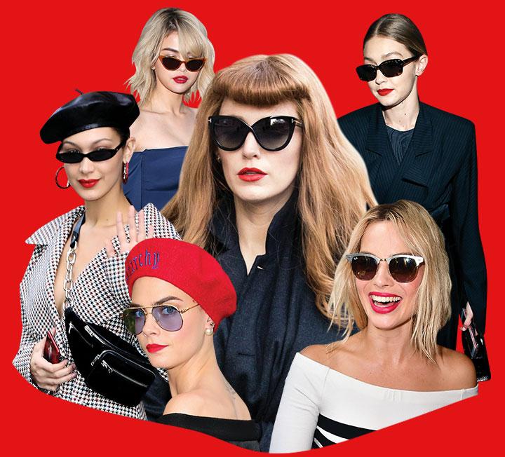 선글라스를 꺼내 쓴 패셔니스타들의 공통점은?::선글라스, 선글라스메이크업, 립, 립메이크업, 메이크업, 뷰티, 코스모폴리탄, COSMOPOLITAN::