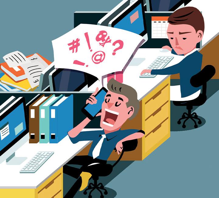 집보다도 더 많은 시간을 머무는 회사, 그런데 옆자리에 앉은 동료가 밉상, 진상, 화상이라면? 과중한 업무가 아니라 그런 동료 때문에 회사 가기가 싫어질 수도 있다. 시각, 후각, 청각 등에 다채롭게 불쾌감을 주는 그들의 행동을 고발한다. ::직장, 커리어팁, 비즈니스, 회사, 회사생활, 진상동료, 동료, 코스모폴리탄, COSMOPOLITAN