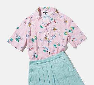 요즘 길거리에서 속속들이 보이는 하와이안셔츠! 큼지막한 패턴과 쨍한 컬러가 여름에 제격이다.어떤 아이템과 매치하느냐에따라 확 다른 분위기를 어필할 수 있는 것은 물론! ::하와이안셔츠, 셔츠, 패턴, 아이템, 섬머룩, 와이드팬츠, 테니스, H라인, 스커트, 슬렉스, 코스모 캠퍼스