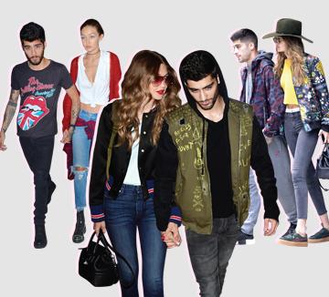 할리우드에서 가장 주목받는 사랑꾼 커플인 지지 하디드와 제인 말리크. 공식 석상에서는 화려한 패션을 선보이는 것과 달리 평소엔 편안한 캐주얼 룩을 즐겨 입는다. 알록달록한 패턴 점퍼, 데님 팬츠 등 한가지 아이템을 맞추는 것은 필수!