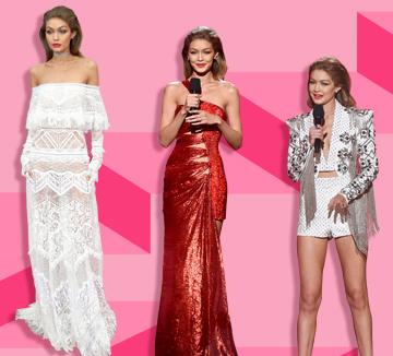 지난 11월 20일에 열린 아메리칸 뮤직 어워드! 시상식에서 MC를 맡았던 지지 하디드의 6단 변신이 화제를 끌었다. 그녀가 선택한 6벌의 드레스는 무엇?::지지 하디드, 벨라 하디드, 뮤직 어워드, 시상식, 시상식 패션, 패션, 셀럽, 드레스, 코스모폴리탄, COSMOPOLITAN