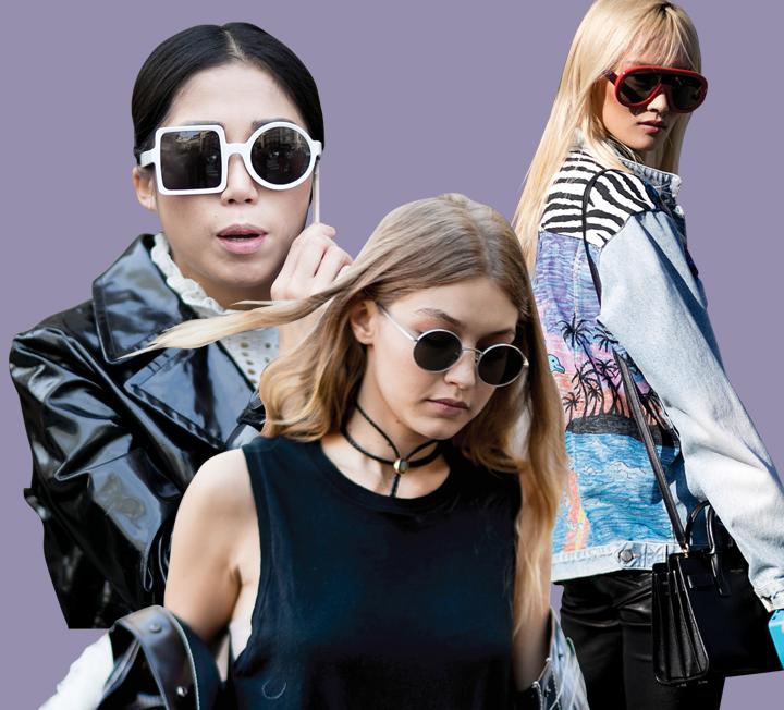 누가 누가 더 특이한지 겨루기라도 하는 듯 독특한 디자인의 선글라스를 끼고 거리를 활보하는 그녀들!