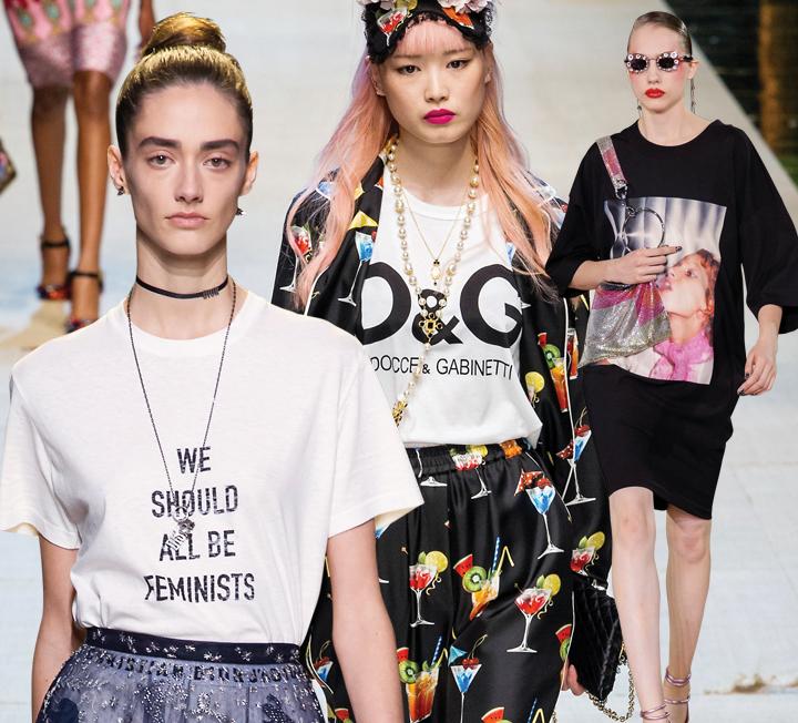 스트리트에서 많이 보던 티셔츠가 런웨이 속 잇 아이템으로 거듭났다! 특히 주목해야 할 아이템은 대놓고 브랜드 로고를 보여주는 로고 플레이 티셔츠, 런던 쇼디치 지역에서 볼 법한 그래피티 요소를 더한 것과 메시지를 담은 레터링 티셔츠. 런웨이 속 티셔츠 스타일링도 눈여겨볼 만한데, 기존의 캐주얼한 스타일링보다는 디올 컬렉션에서 선보인 것처럼 팬츠 슈트에 매치하거나 로맨틱한 샤 스커트와 함께 연출하는 게 더 멋스러우니 기억해뒀다 따라 해볼 것.
