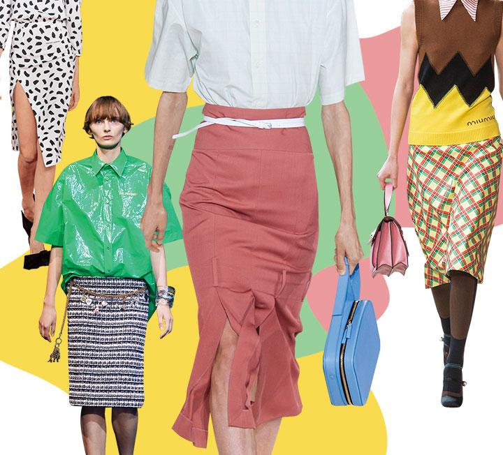 이번 봄, 우리의 패션 창의력을 시험하는 아이템이 나타났다. 고상하면서도 심장 뛰게 섹시하고, 간결하면서도 화려한 펜슬 스커트의 귀환.