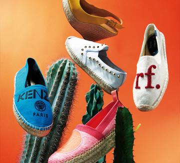 쿨한 디자인이 매력적인 에스파드리유 슈즈와 함께라면 뜨거운 태양 아래에서도 발걸음만은 가벼울 듯.::에스파드리유, 슈즈, 신발, 여름, 아이템, 필수템, 겐조, 루이 비통, 해변,  코스모폴리탄, COSMOPOLITAN