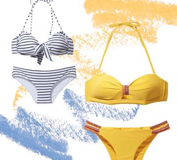 평소 란제리로 갈고닦은 노하우를 고스란히 수영복에도 접목했다. 란제리 브랜드에서 선보이는 수영복은 가슴 컵에 신경 써 보디라인을 한층 예뻐 보이게 해준다. 게다가 패션 브랜드 못지않게 다채로운 패턴과 디자인으로 트렌디하기까지 하니 이보다 더 고마울 수 없다.::수영복, 란제리, 비키니, 바다, 해변가, 쇼핑, 패션, 여름, 필수템,  코스모폴리탄, COSMOPOLITAN
