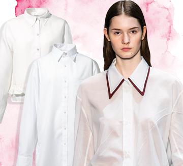 어떤 스커트와 팬츠를 선택하느냐에 따라 무궁무진한 스타일을 연출할 수 있는 데일리 셔츠!::가을, 패션, 코디, 패션 아이템, 셔츠, 화이트, 화이트 셔츠, 코스모폴리탄, COSMOPOLITAN