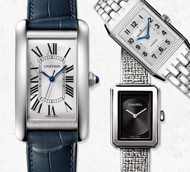 현대적인 동시에 고전적이다.굳이 한 개의 시계를 골라야 한다면 사각 프레임 시계가 답인 이유다. ::시계, 사각프레임,여성시계, 여자시계, 티파니, 예거르쿨트르, 샤넬, 에르메스, 까르띠에, 코스모폴리탄, COSMOPOLITAN