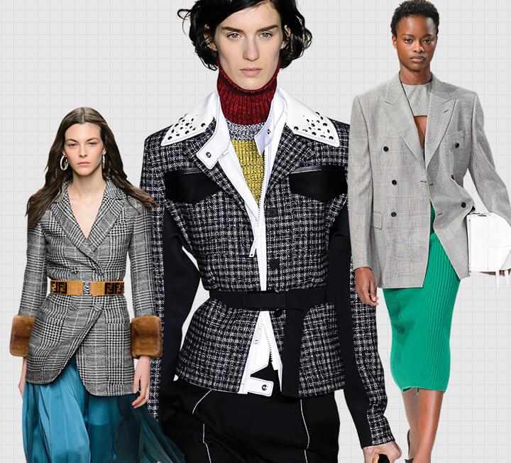 한 가지 아이템으로 매일 다르게 스타일링할 줄 아는 게 진짜 똑똑한 커리어 우먼의 옷 입는 방법. F/W 시즌의 키 아이템이자 활용도 만점인 체크 재킷과 스커트로 스마트하게 커리어 룩을 연출해보자. ::체크, 재킷, 스타일링, 패션, 아이템, 코스모폴리탄, COSMOPOLITAN