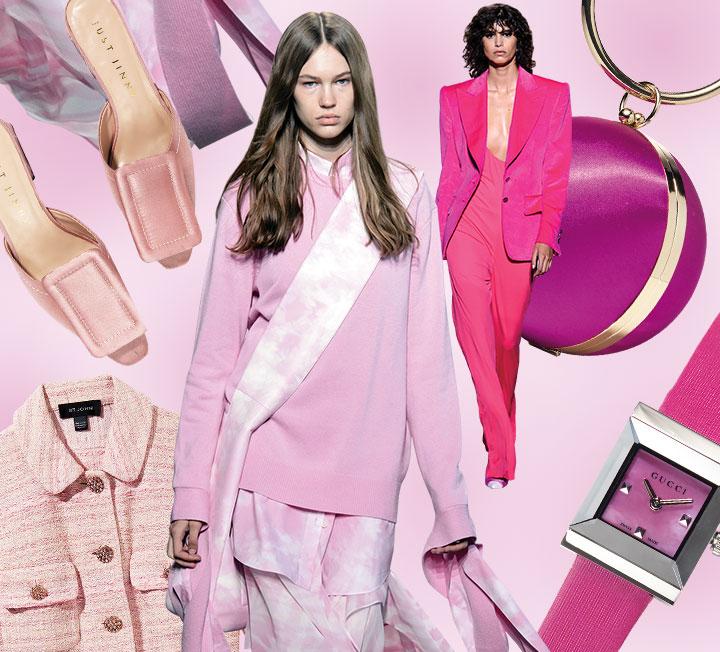 각각의 컬러가 주는 힘이 있다. 차가운 이미지도 한없이 부드럽게 만들어주고, 때론 컬러의 힘을 빌려 강렬한 변신을 하기도 하니까! 코스모가 주목한 6가지 색을 통해 지금 이 계절을 더욱 경쾌하고 컬러풀하게 즐겨볼 것.::핑크, 핑크패션, 파스텔핑크, 핫핑크, 룩, 패션, 코스모폴리탄, COSMOPOLITAN::