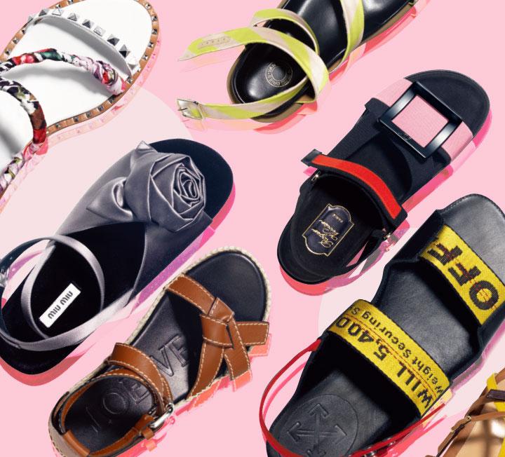 새 계절, 쇼핑에 목마른 당신을 위해 준비했다. 올 봄과 여름, 들고 신으면 좋을 만한 가방과 신발을 모두 모은 대망의 쇼핑 가이드. ::패션, 쇼핑, 데일리룩, 패션아이템, 트렌드, 샌들, 여자샌들, 여름샌들, 2019ss, 코스모폴리탄, COSMOPOLITAN